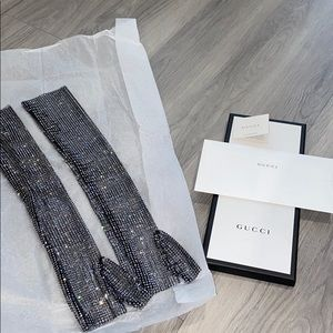 Gucci crystal gloves